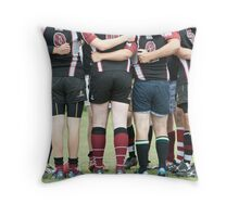 Rugby team mates Throw Pillow
