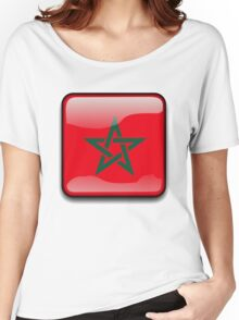 Morocco Flag, Icon Women's Relaxed Fit T-Shirt