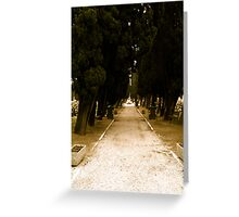 Cemetery path Greeting Card