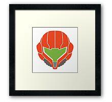 Samus' Powersuit Helmet Framed Print