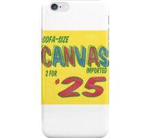 Sofa Size Canvas iPhone Case/Skin