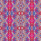 Colorful Ornate Decorative Pattern by DFLC Prints
