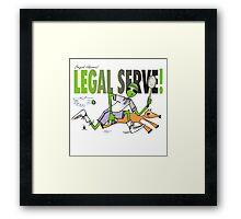 legal serve Framed Print