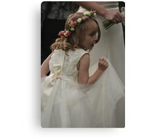 Flower girl at a wedding Canvas Print