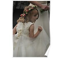 Flower girl at a wedding Poster