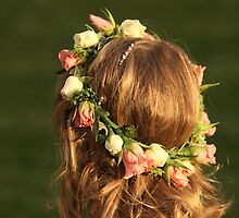 Detail of the flower girl at a wedding by ThatsAndy