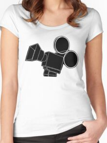 Film Camera Women's Fitted Scoop T-Shirt