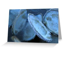 Deep Blue Freeze Greeting Card