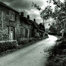 Village Scene (B&amp;W) by Alan E Taylor