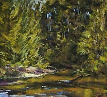 Wilson River 2 - paint out by Terri Maddock