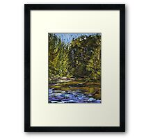 Wilson River 2 - paint out Framed Print