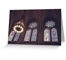 Sunlight Streaming Through Stained Glass Greeting Card