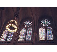 Sunlight Streaming Through Stained Glass Photographic Print