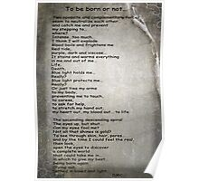 Poem for Pink Panther Challenge. To be born or not…  Poster