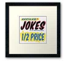 Recycled Jokes Supermarket Series Framed Print
