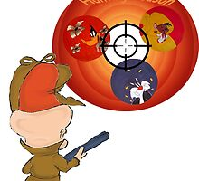 "Looney tunes ""Hunting season"" by XpressUSelf"