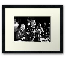 Ike Before Addressing Philippine Congress Framed Print