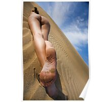 Nude in the Dunes Colour Poster