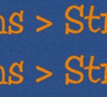 horns>strings Sticker