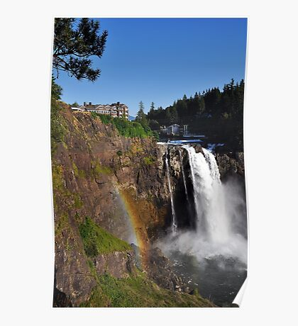 Rainbow over Snoqualmie Falls Poster