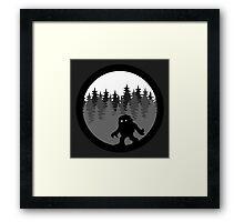 Sasquatch By Night  Logo-1 Framed Print