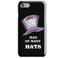 Man Of Many Hats iPhone Case/Skin