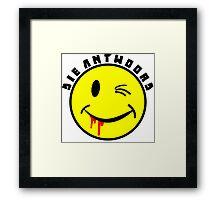 Die Antwoord Smiley Framed Print