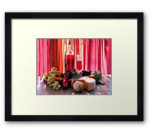 Wine In The Dinning Room Framed Print