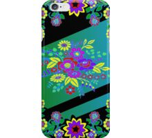 Smart Tech, Home, and Fashion Accessories Black and Multicolor Foulard Print iPhone Case/Skin
