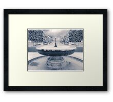 Memorial Fountain Framed Print