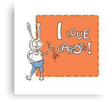 I love carrots. Canvas Print