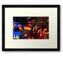 Banana Moon over Broadway Framed Print