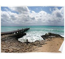 Lighthouse Point, North West shoreline, Grand Cayman, Caribbean  Poster