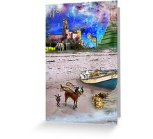 What Do Dogs Dream?  Greeting Card