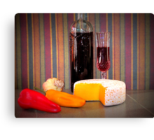 Peppers And cheese Canvas Print