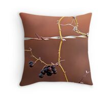 Barbed Berries Throw Pillow