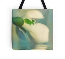 To a snowdrop Tote Bag