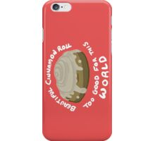 beautiful cinnamon roll - white text iPhone Case/Skin