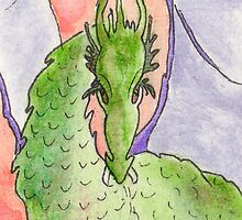 Fierce - ACEO Watercolor, Pen Ink Illustration by Jacquie Gouveia
