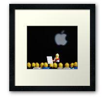 Steve Jobs Launches the iPad. Framed Print