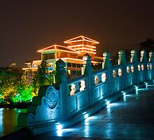 Guilin Bridge at Night by Karen Millard