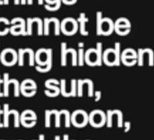sun moon truth Sticker