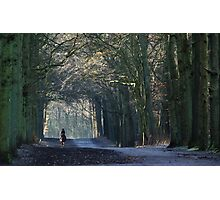 A distant rider on the March lane Photographic Print