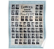 1972 Lowes High School Poster