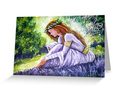 Purple Faerie Greeting Card