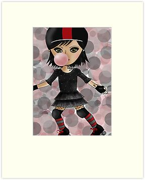Roller Derby Girl by Kristy Spring-Brown