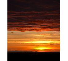 Sunset in Belgrade Photographic Print