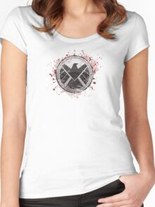 S.H.I.E.L.D Emblem (red) Women's Fitted Scoop T-Shirt