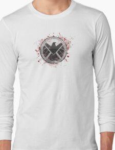S.H.I.E.L.D Emblem (red) Long Sleeve T-Shirt