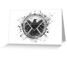 S.H.I.E.L.D Emblem (in gray with white background) Greeting Card